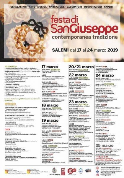 Festa di San Giuseppe Salemi programma