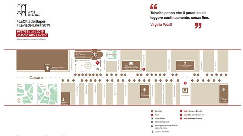 La via dei Librai 2019 mappa del Cassaro Alto