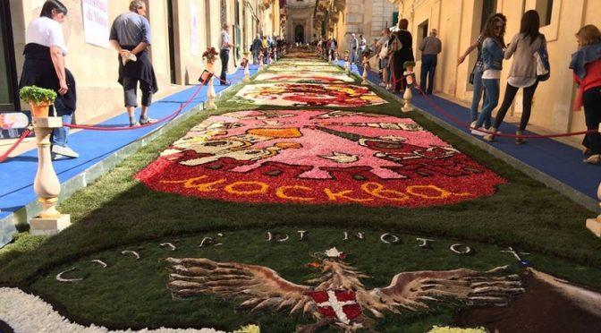 Infiorata di Noto i Siciliani nel Mondo