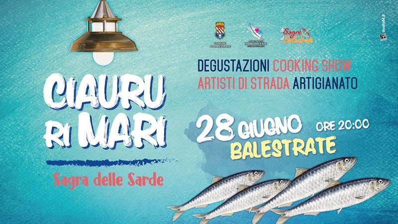Ciauru ri Mari: la Sagra delle Sarde il 28 giugno a Balestrate