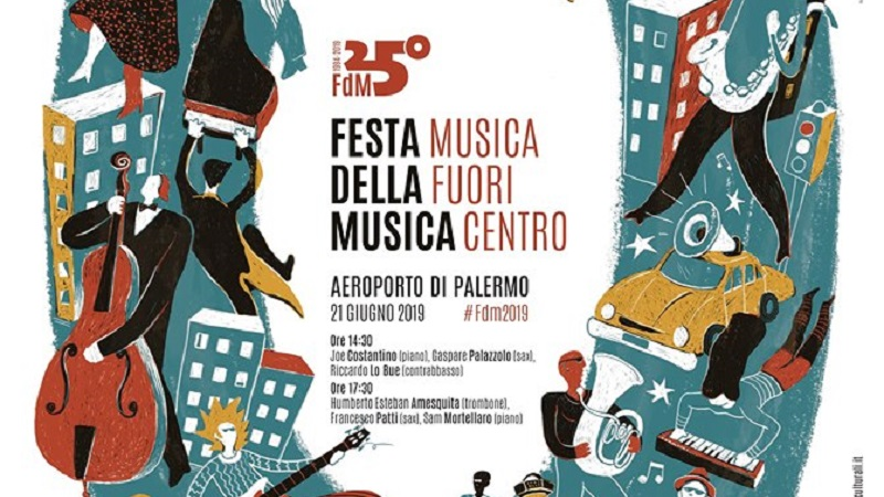 Festa della Musica: Musica Fuori Centro all'aeroporto Falcone Borsellino di Palermo