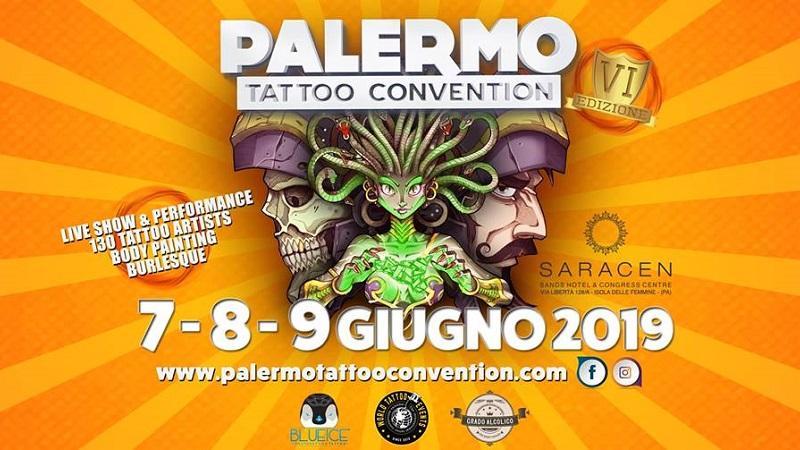 Palermo Tattoo Convention dal 7 al 9 giugno a Isola delle Femmine con 130 artisti