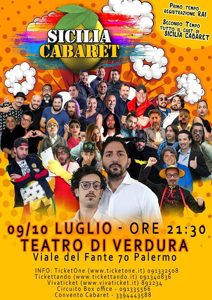 Sicilia Cabaret Rai Due Teatro di Verdura