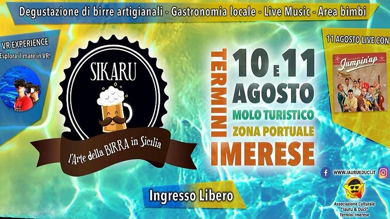 Sikaru – L'arte della birra in Sicilia, il 10 e l'11 agosto a Termini Imerese