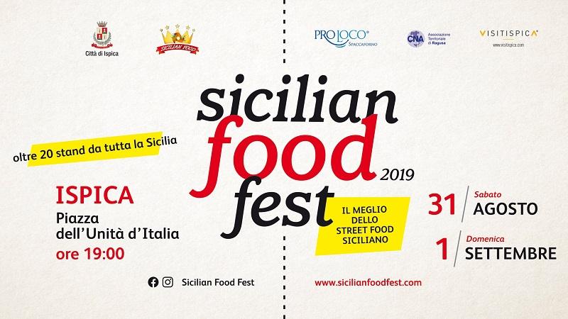 Sicilian Food Fest a Ispica il 31 agosto e il primo settembre