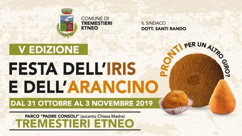 Festa dell'Iris e dell'Arancino a Tremestieri Etneo dal 31 ottobre al 3 novembre