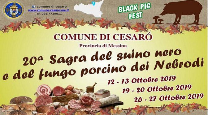 Sagra del suino nero e del fungo porcino dei Nebrodi Cesarò Black Pig Fest