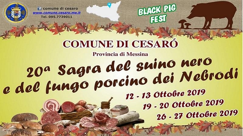 Sagra del suino nero e del fungo porcino dei Nebrodi – Black Pig Fest 2019 a Cesarò