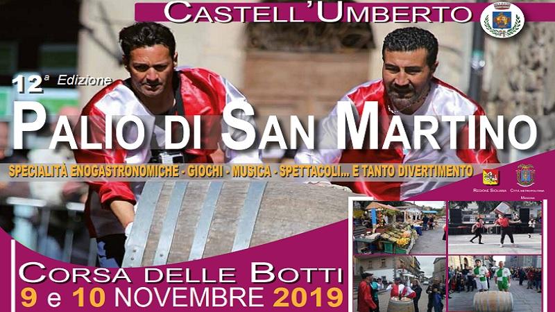 Palio di San Martino: a Castell'Umberto la tradizionale Corsa delle Botti