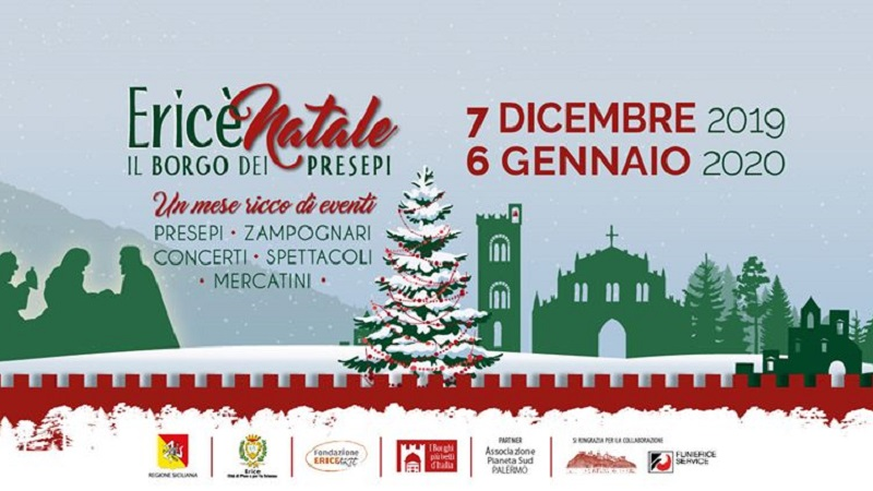 EricèNatale – Il borgo dei presepi, dal 7 dicembre al 6 gennaio con Zampogne dal Mondo