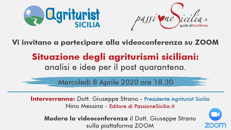 Agriturist e PassioneSicilia.it insieme per il rilancio degli agriturismi: videoconferenza mercoledì 8 aprile