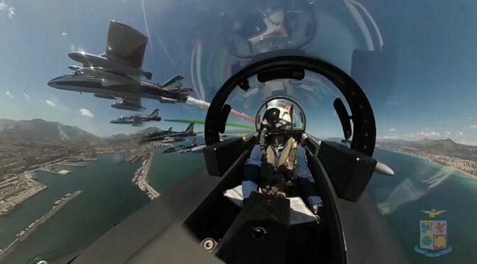 Frecce Tricolori video aeronautica militare italiana Palermo