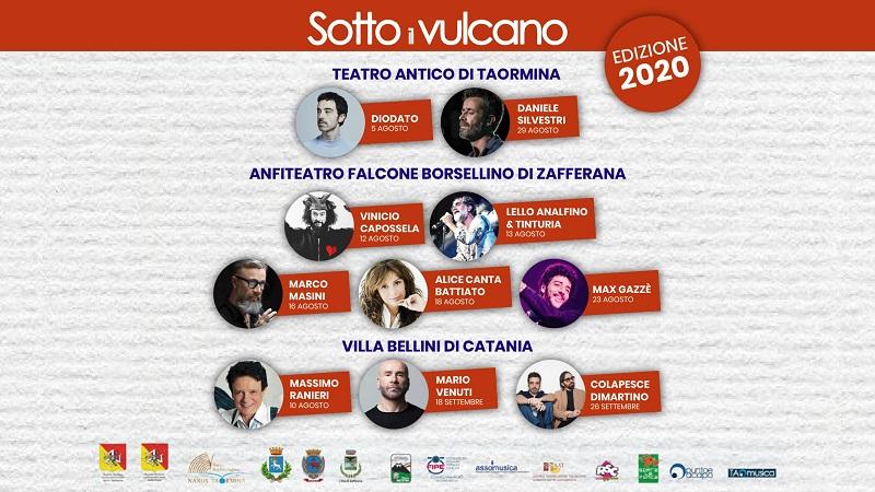 Festival Sotto il Vulcano: da Diodato a Gazzé, ecco il programma completo